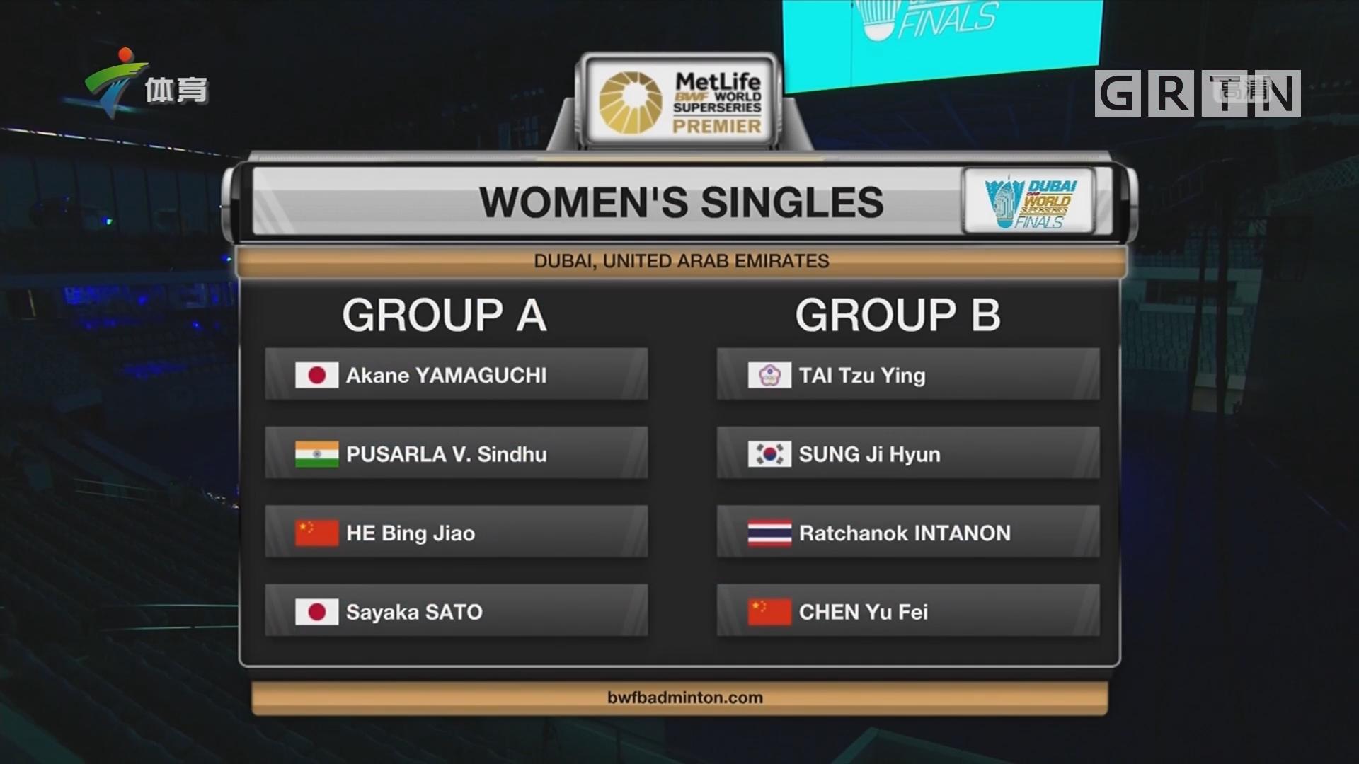 世界羽联超级系列赛总决赛今日开打