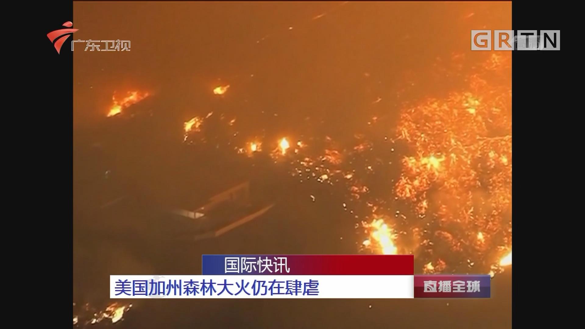 美国加州森林大火仍在肆虐