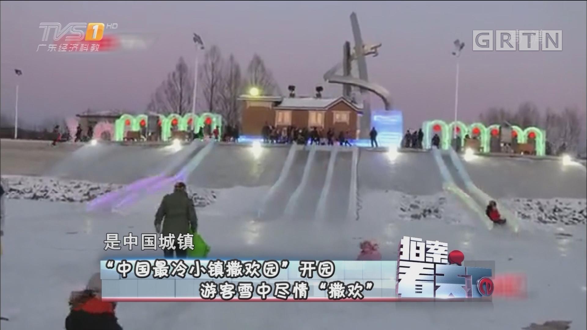 """[HD][2017-12-21]拍案看天下:""""中国最冷小镇撒欢园""""开园 游客雪中尽情""""撒欢"""""""