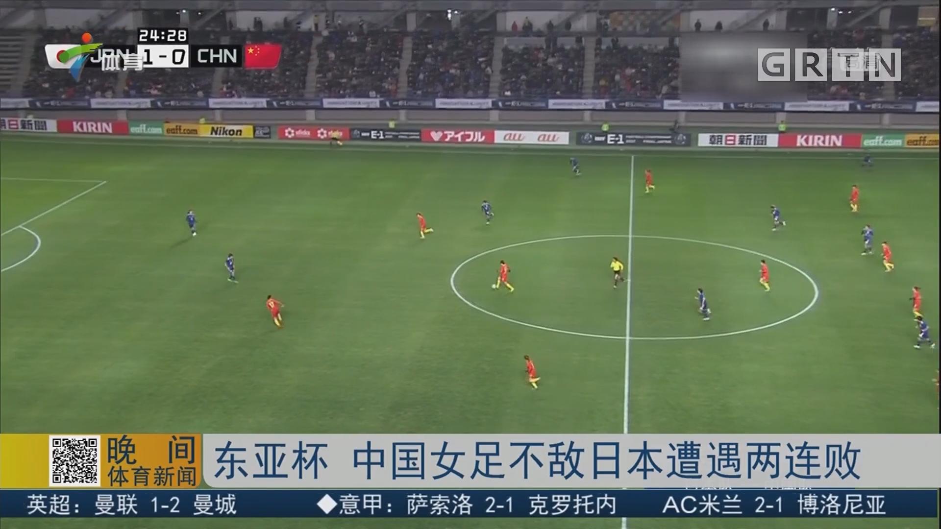 东亚杯 中国女足不敌日本遭遇两连败