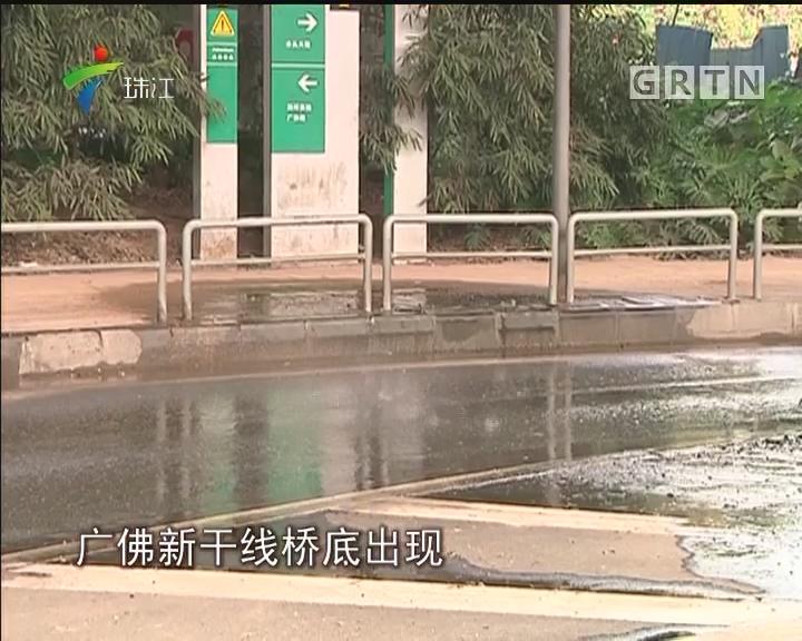 佛山:广佛新干线水泥板掉落 幸无人员受伤