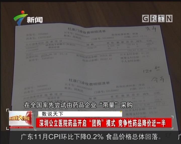 """深圳公立医院药品开启""""团购""""模式 竞争性药品降价近一半"""