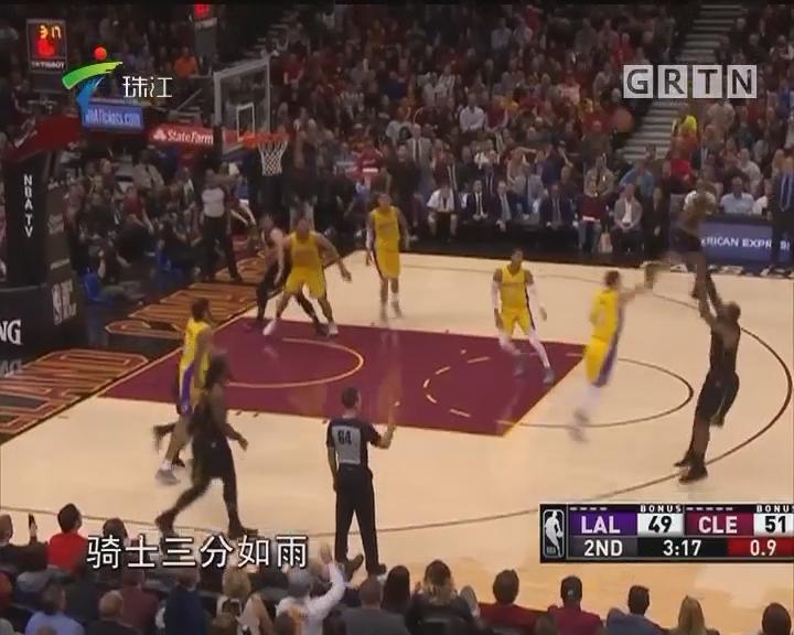 NBA:詹姆斯第59次三双 骑士胜湖人