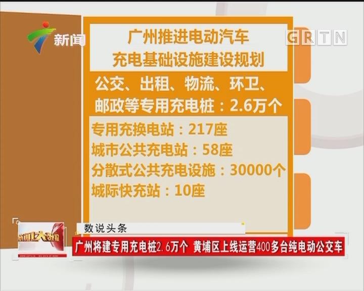 广州将建专用充电桩2.6万个 黄浦区上线运营400多台纯电动公交车
