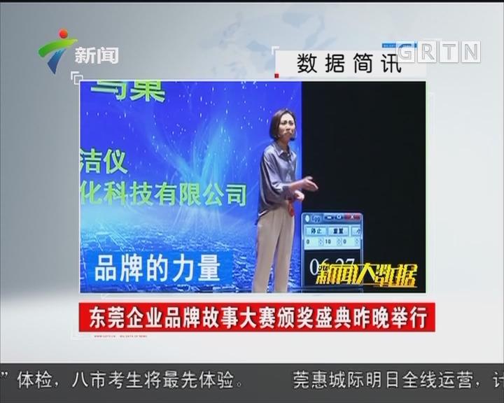 东莞企业品牌故事大赛颁奖盛典昨晚举行