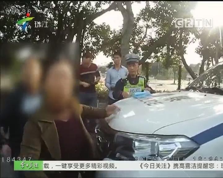 佛山:九次违法车辆被扣 女乘客暴力抗法