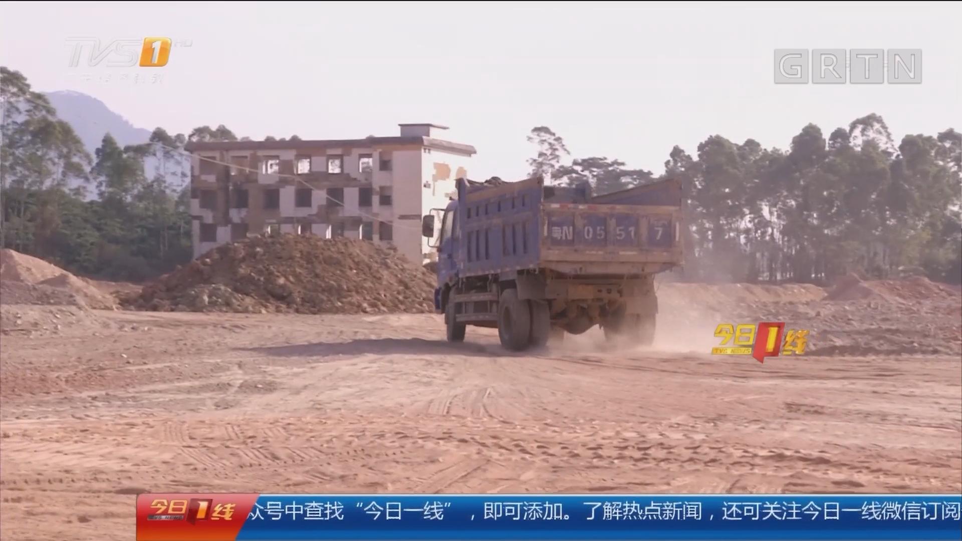 惠州博罗:晒泥场紧邻居民楼 尘土飞扬严重扰民