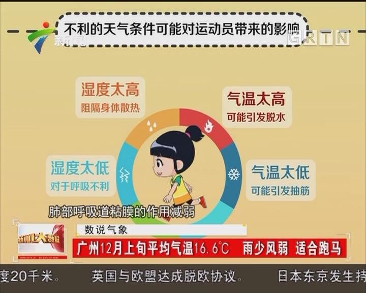 广州12月上旬平均气温16.6℃ 雨少风弱 适合跑马