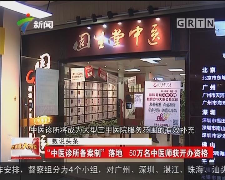 """""""中医诊所备案制""""落地 50万名中医师获开办资格"""