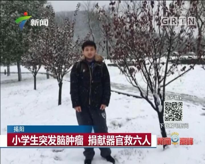 揭阳:小学生突发脑肿瘤 捐献器官救六人