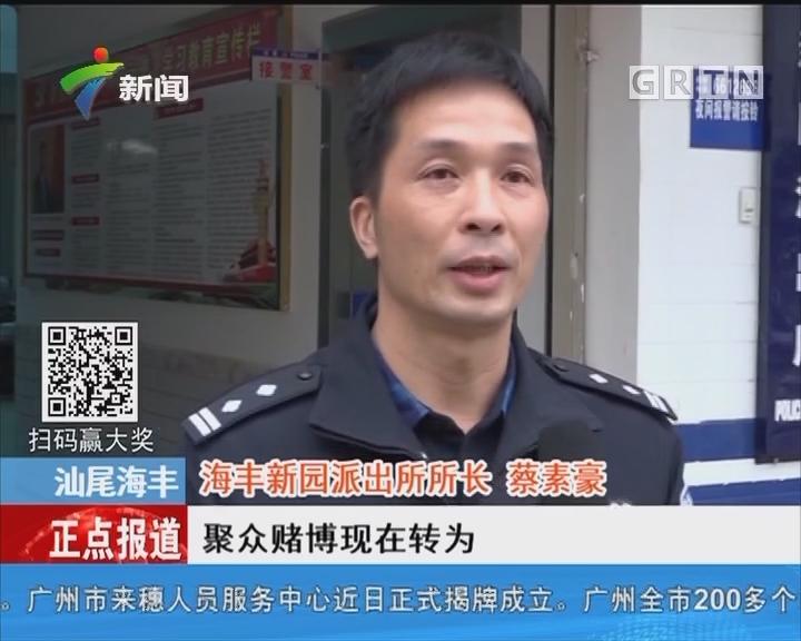 汕尾海丰:警方夜袭赌博窝点抓获28人