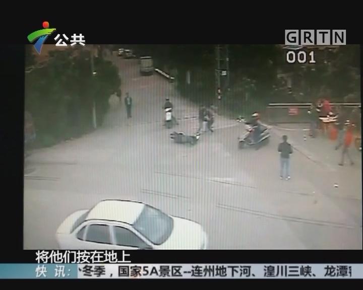 中山:两男子早餐档偷手机 被便衣飞身擒获