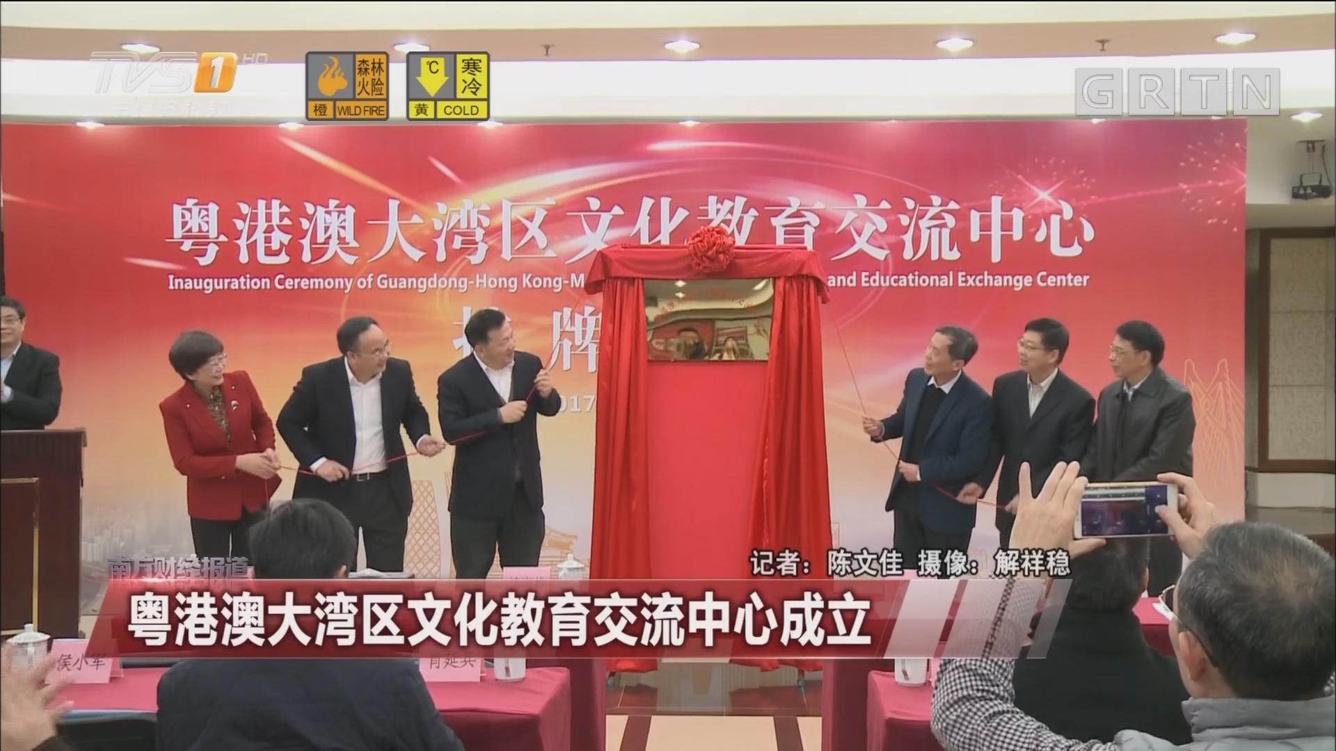 粤港澳大湾区文化教育交流中心成立