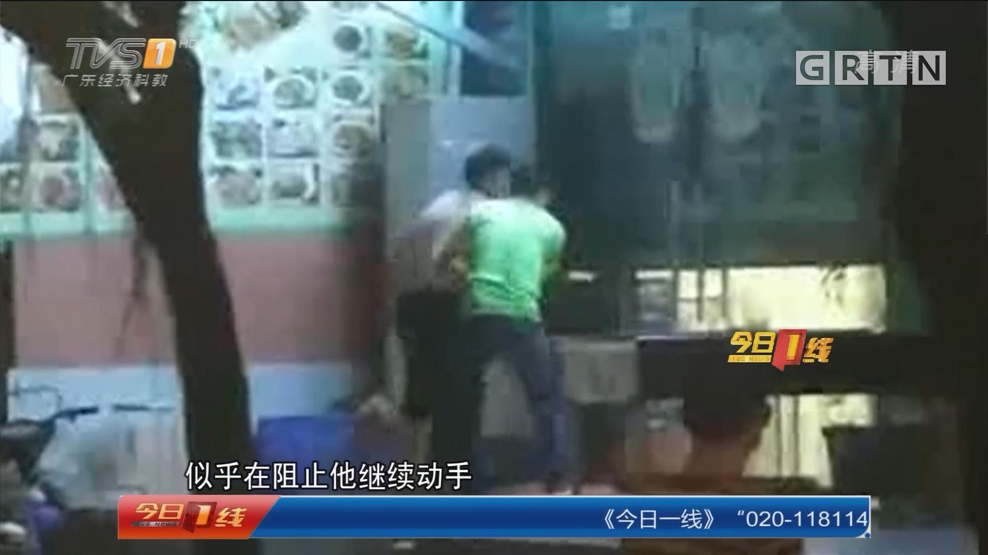 广州天河区:醉汉撒泼 众人合力制止