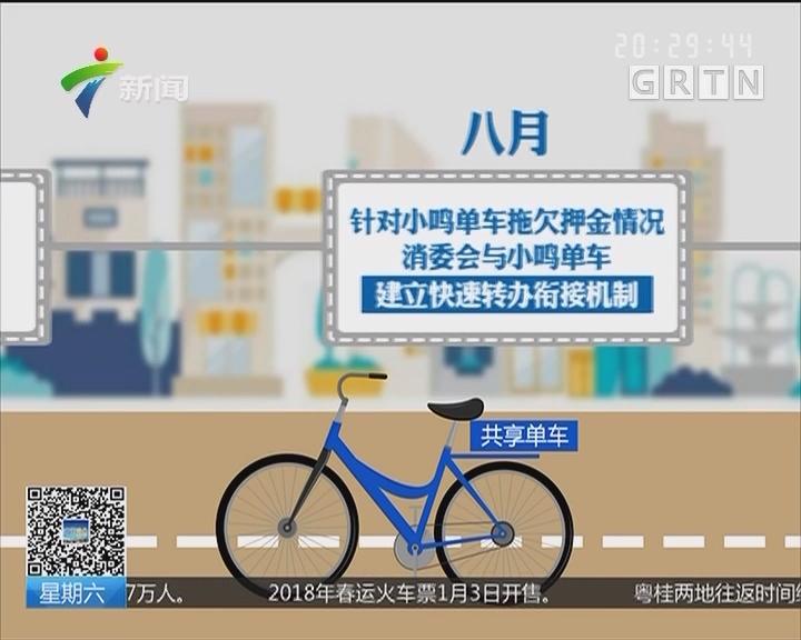 广东省消委会起诉小鸣单车:消委会发起公益诉讼 小鸣单车成被告