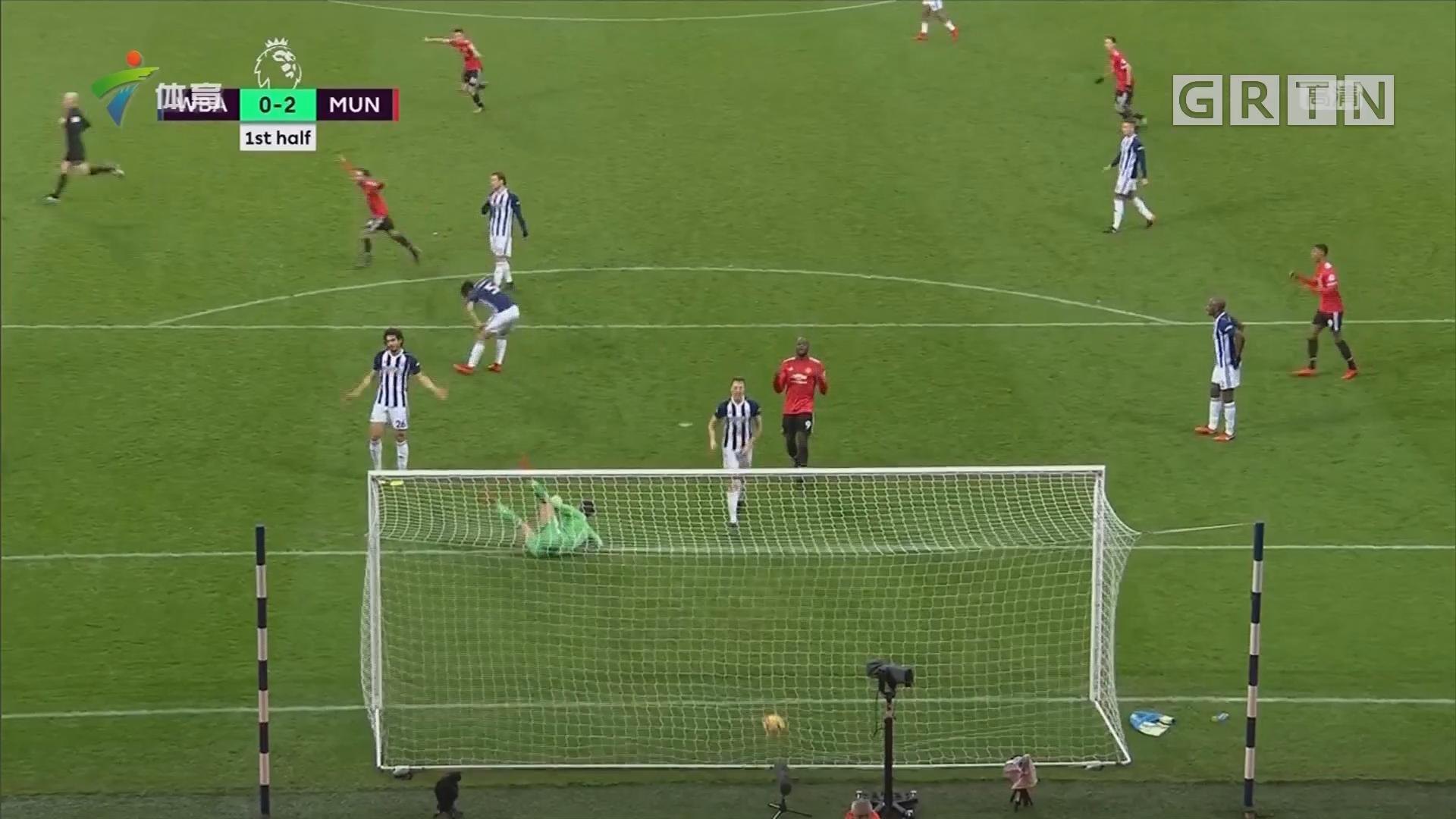 曼联2比1西布朗 继续位列英超次席