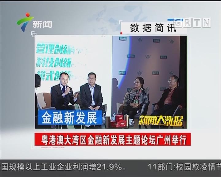 粤港澳大湾区金融新发展主题论坛广州举行