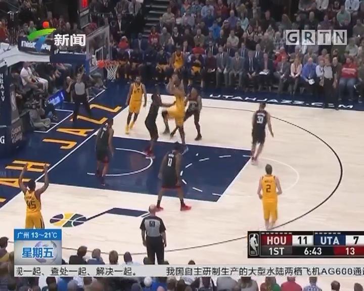 NBA:火箭客场112—101轻取爵士