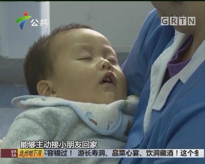 婴儿发高烧被送医 父母不见踪影