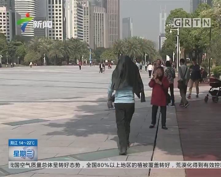 """广州:阳光灿烂 老人小孩享受""""日光浴"""""""