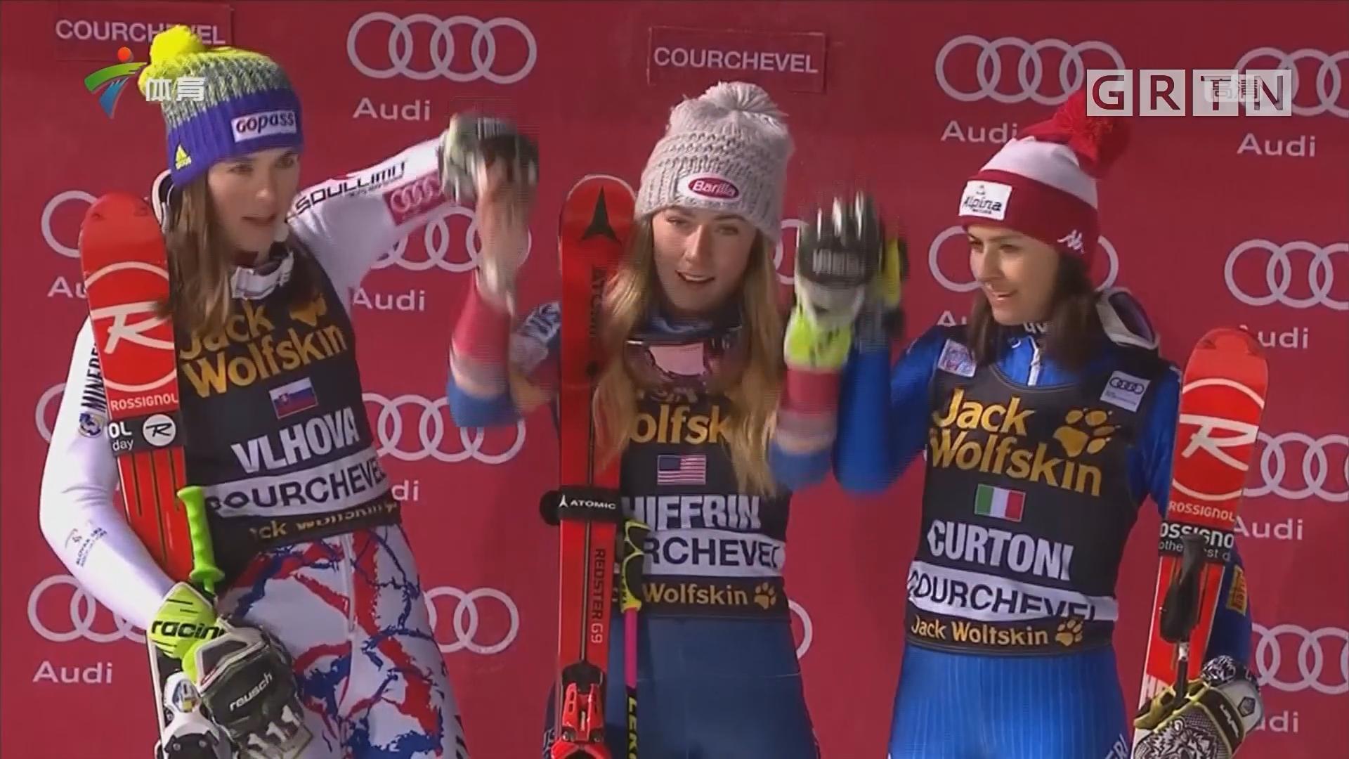 谢夫林夺首届FIS世界杯女子平行回转赛冠军