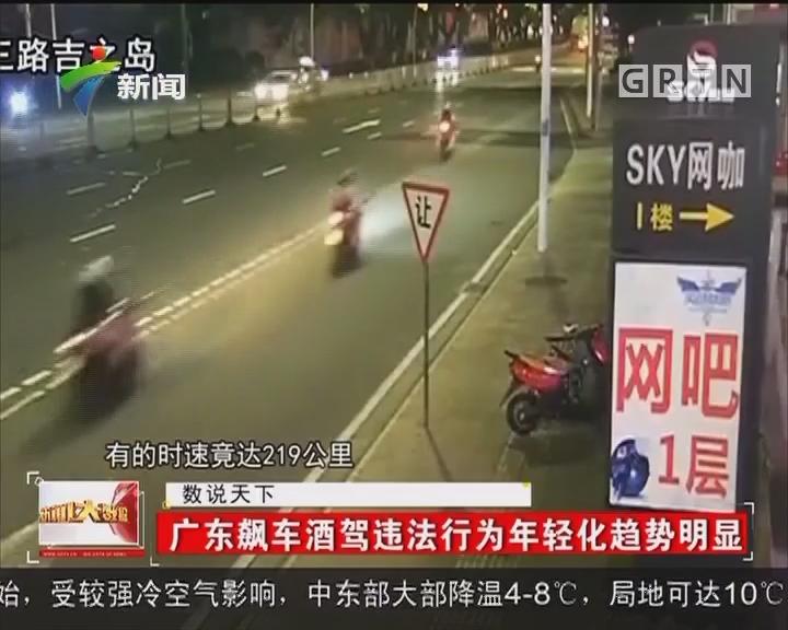 广东飙车酒驾违法行为年轻化趋势明显