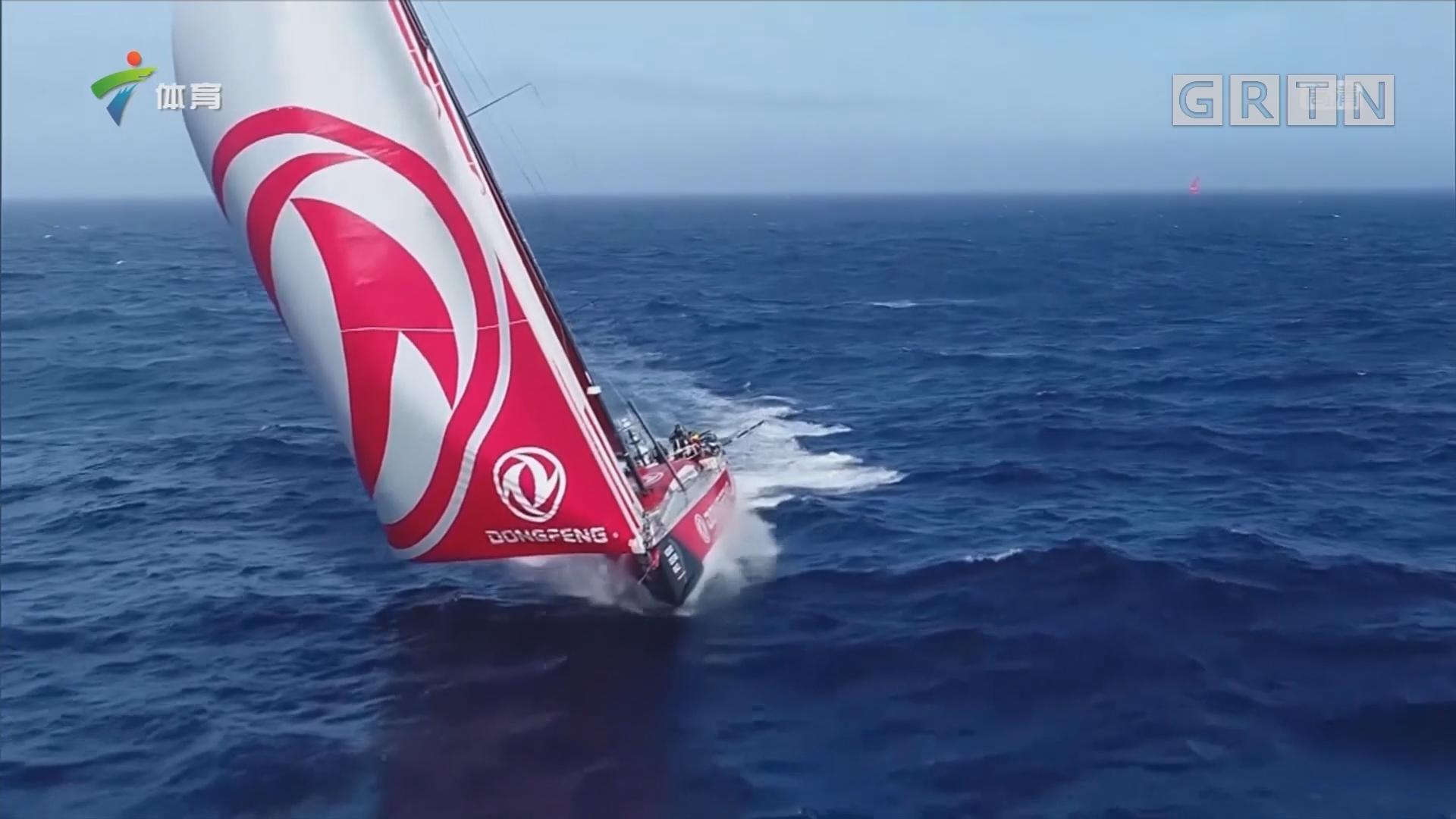 沃尔沃帆船赛第三赛段 东风队暂居第一