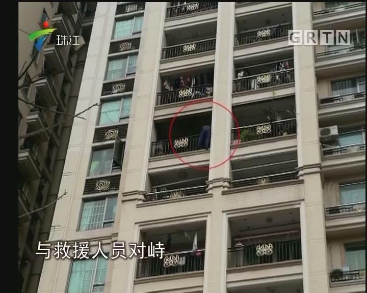 增城:失火房屋竟有男子持刀挥舞 警方介入调查