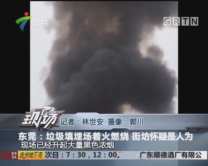 东莞:垃圾填埋场着火燃烧 街坊怀疑是人为