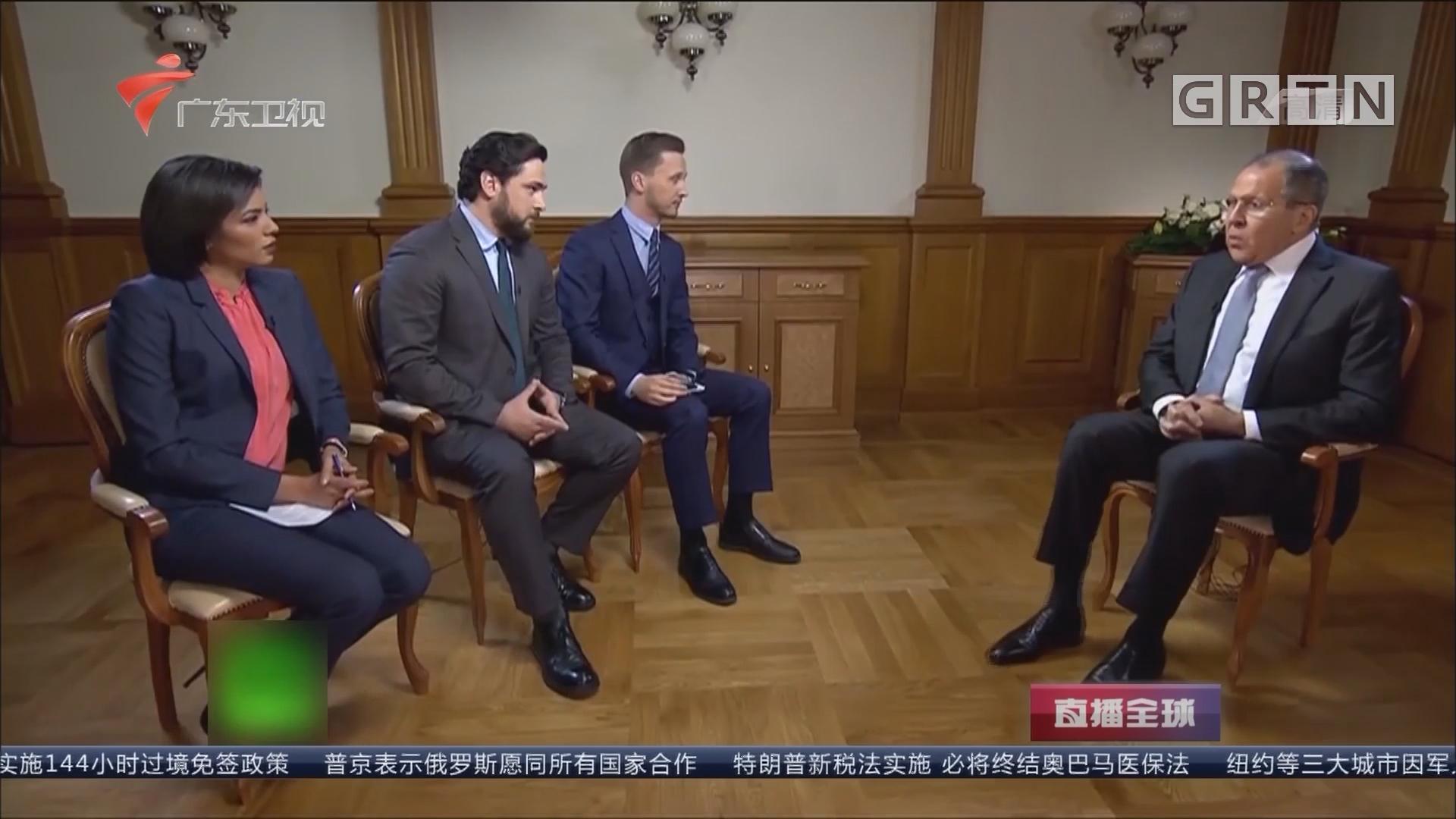 """俄外长:美朝应停止""""挑衅""""开展对话 俄外长:正常人不希望朝鲜半岛爆发战争"""