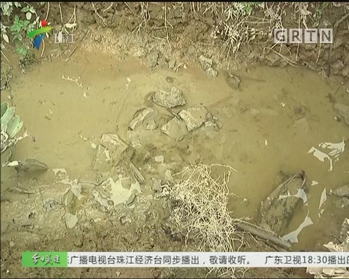 广州:搅拌车偷倒水泥 致灌溉水渠被堵