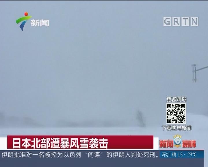 日本北部遭暴风雪袭击