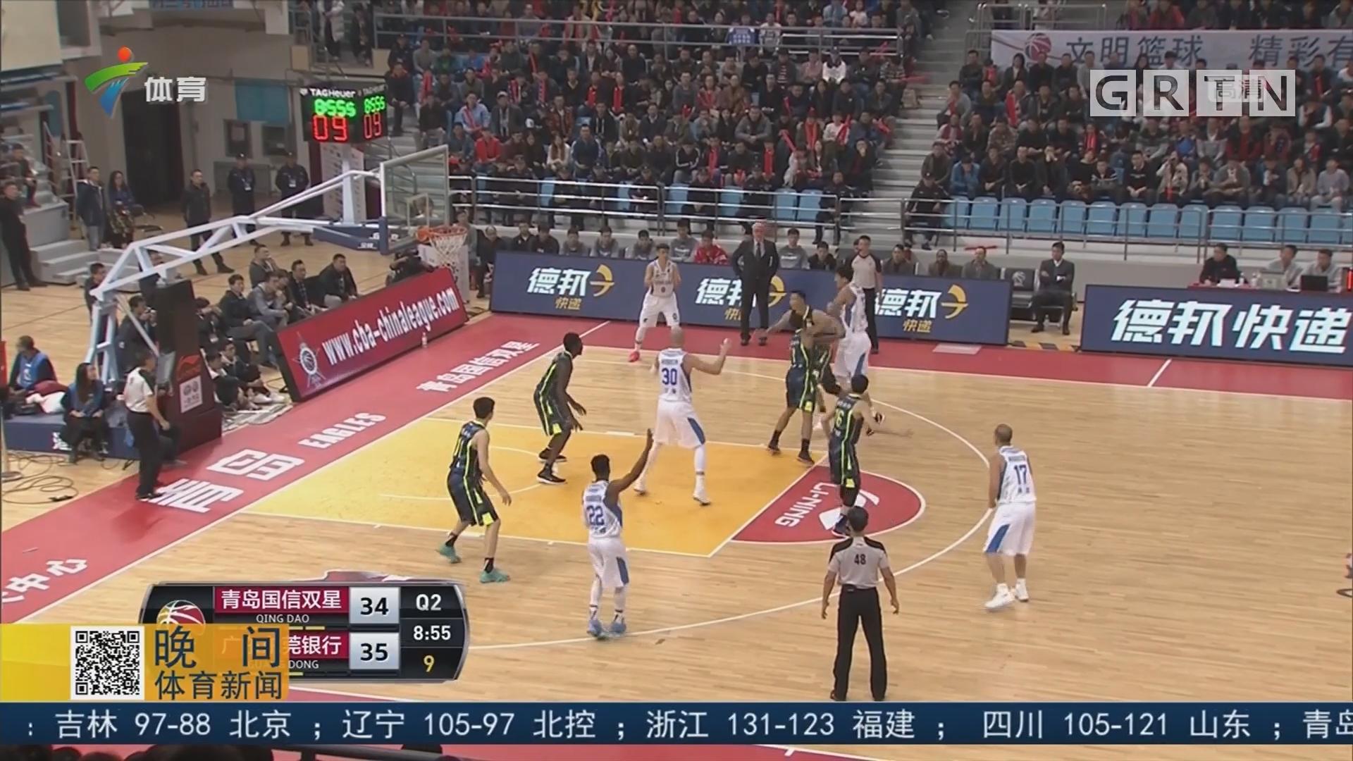 拒绝连败 广东男篮客场险胜青岛