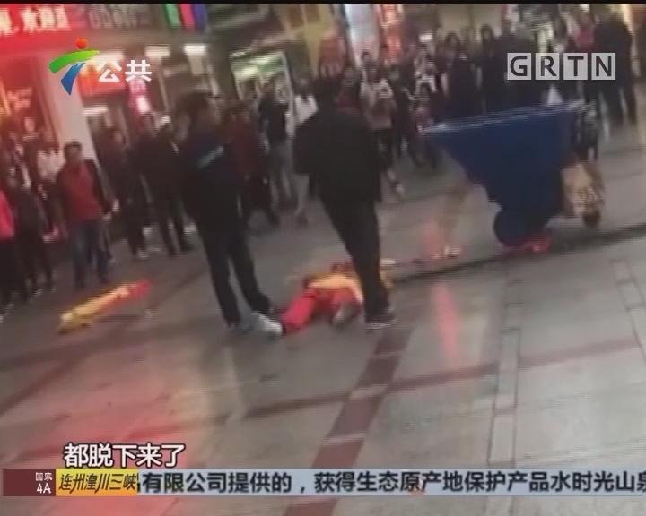 惠州:西湖孙悟空扮演者被游客打倒在地