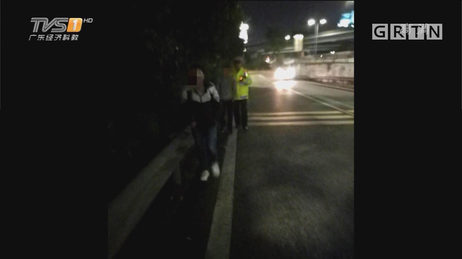 """深圳:坐错车""""抄近路"""" 两学生高速上逆行"""