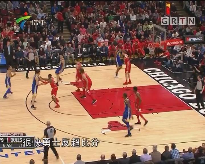 NBA:勇士斗牛 水花兄弟得分新高