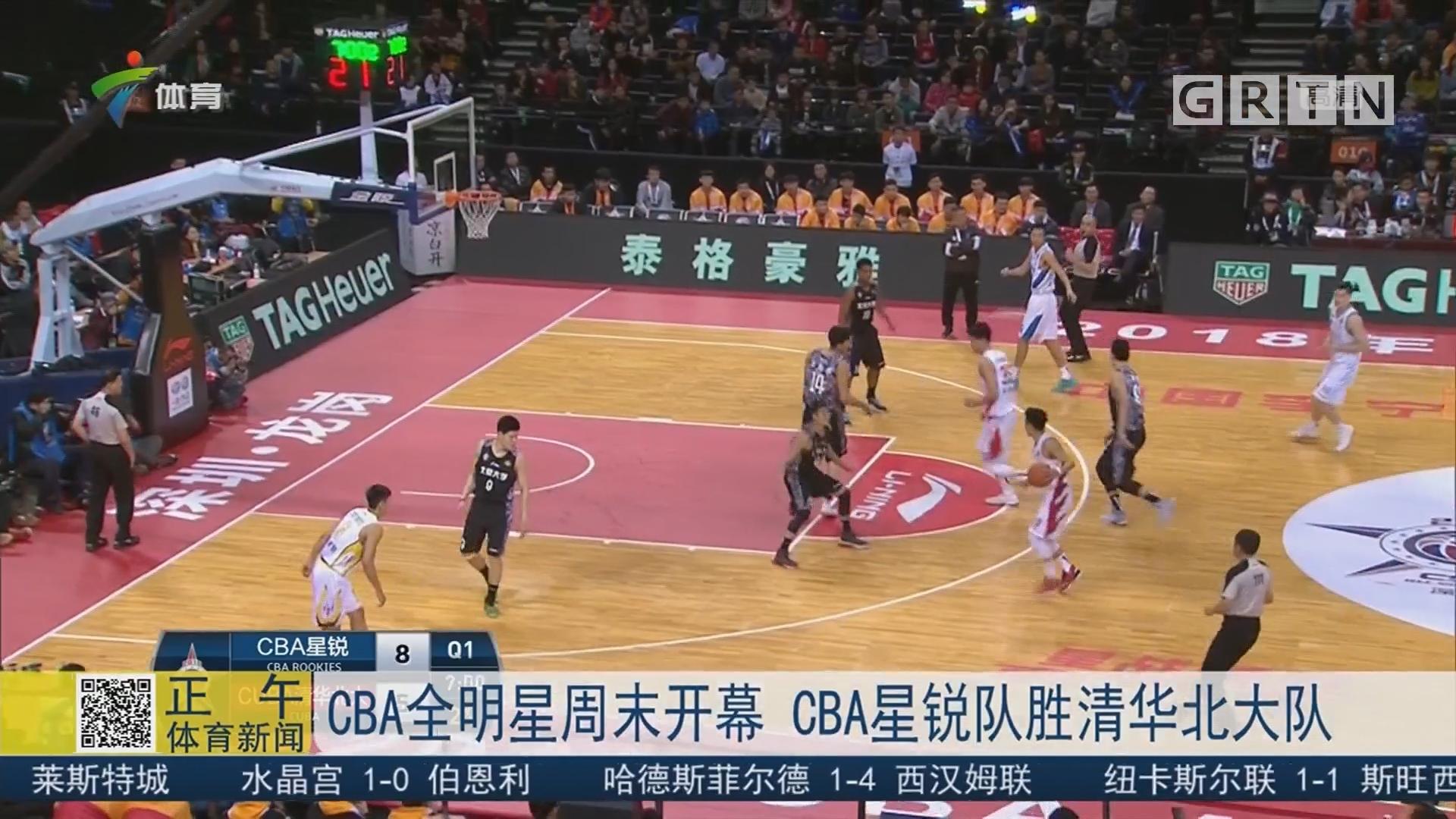 CBA全明星周末开幕 CBA星锐队胜清华北大队