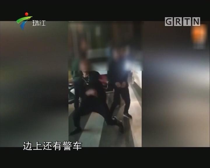 为出名 两男子车祸现场疯狂尬舞
