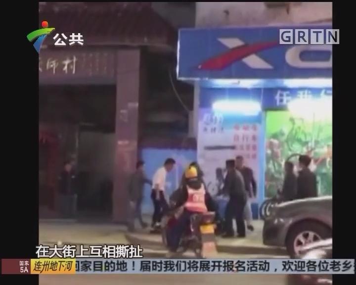 惠州:街头上演斗殴 男子受伤倒地
