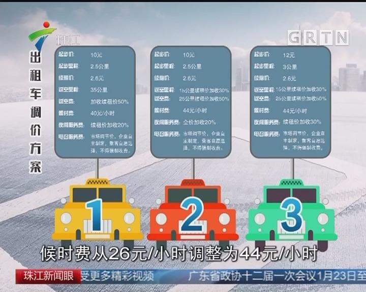 广州的士拟调价 三方案总体上涨一成