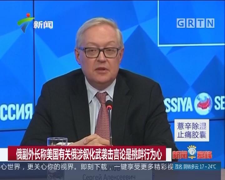 俄副外长称美国有关涉叙化武袭击言论是挑衅行为心