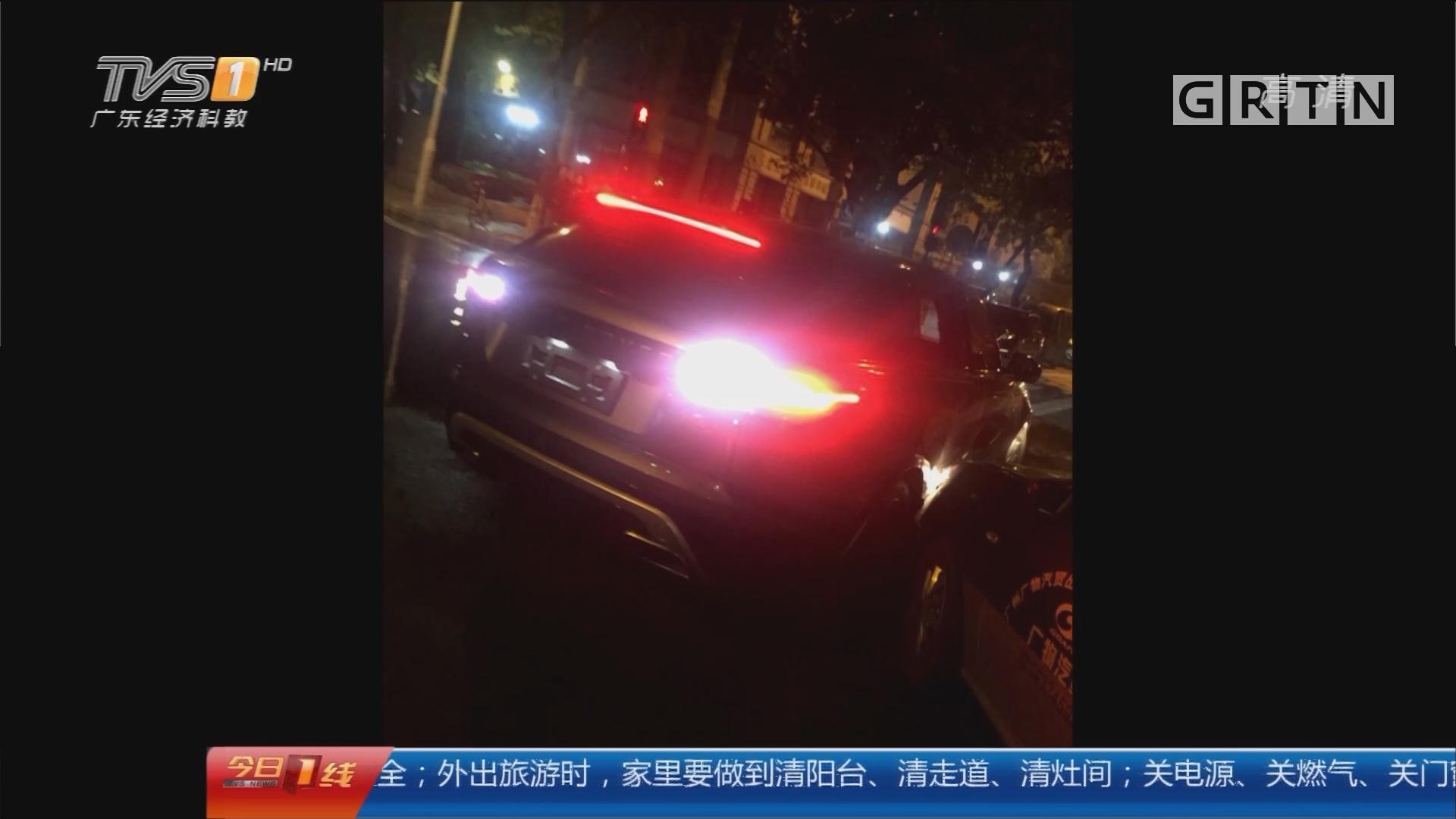 广州:无牌车撞的士后逃逸 的哥被拖行