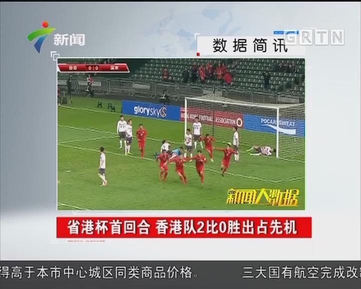 省港杯首回合 香港队2比0胜出占先机