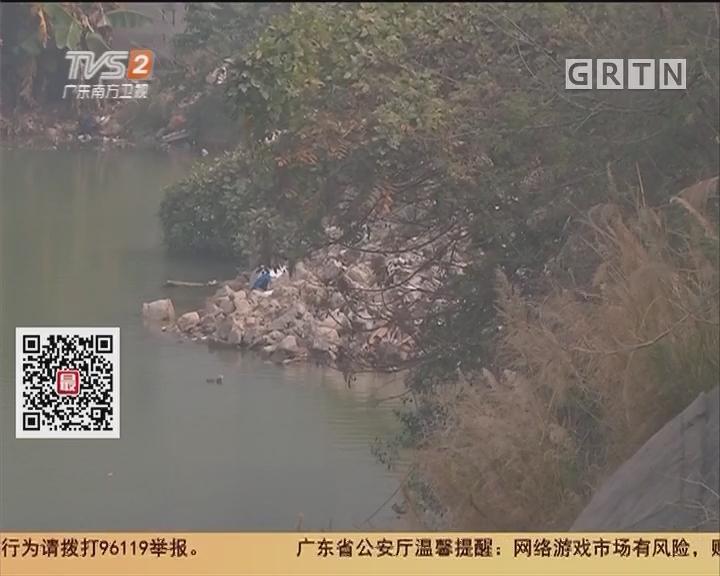 广州南沙 居民报料:泥头车向景观湖偷排建筑余泥