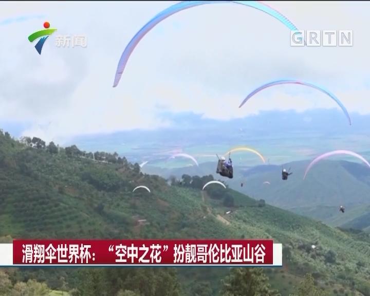 """滑翔伞世界杯:""""空中之花""""扮靓哥伦比亚山谷"""