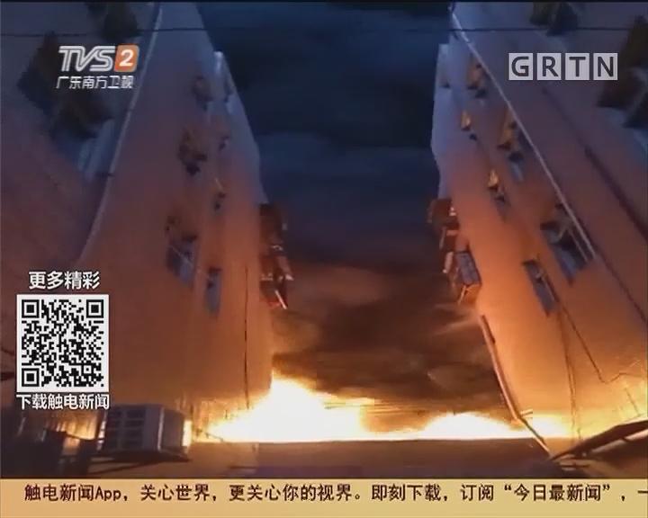 东莞清溪:塑胶五金制品厂仓库着火