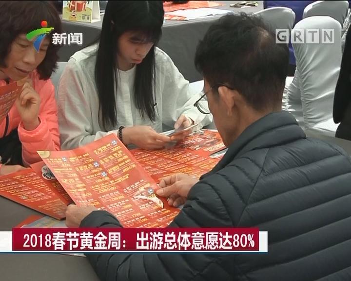 2018春节黄金周:出游总体意愿达80%