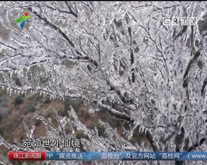 气温持续下降 山区迎来北国风光