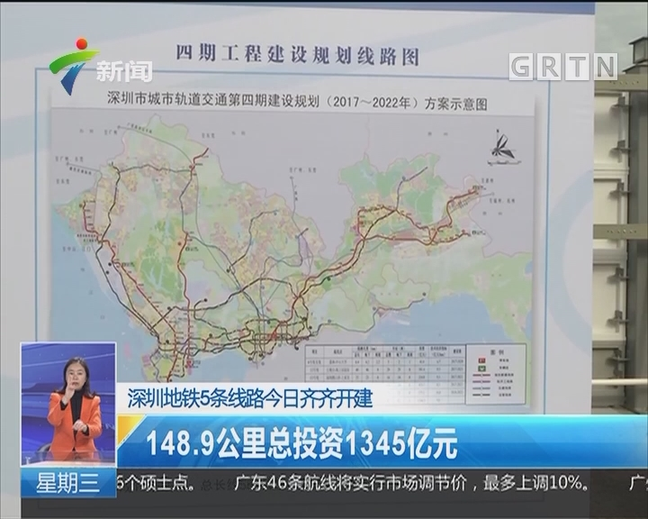 深圳地铁5条线路今日齐齐开建:148.9公里总投资1345亿元