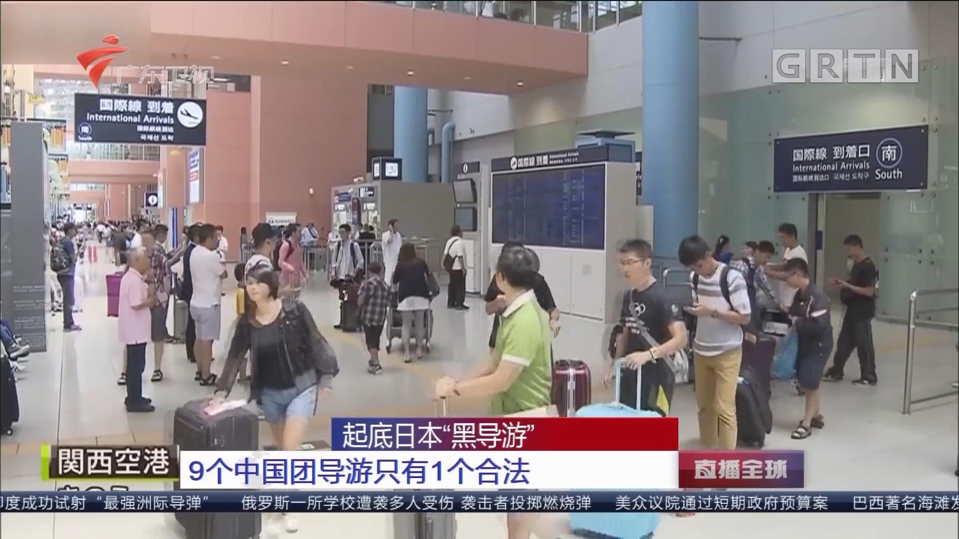 """起底日本""""黑导游"""":9个中国团导游只有1个合法"""